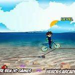 Ben 10 lái moto dưới biển
