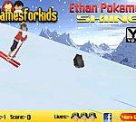Ethan Pokemon trượt tuyết