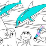 Game tô màu cá heo