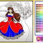 Game tô màu công chúa