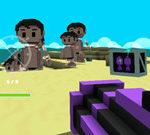 Kẻ xấu, vũ khí hạng nặng và bạn bè trên đảo Minecraft
