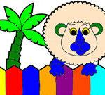 Sách tô màu: Động vật trong vườn thú