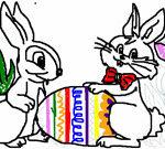 Tô màu cho chú thỏ Phục sinh