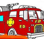 Trang tô màu xe cứu hỏa