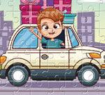 Trò chơi ghép hình cho trẻ em lái xe