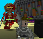 Minecraft trực tuyến: Ngọn núi kỳ diệu của sa mạc buồn tẻ