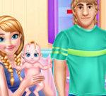 Anna mang thai và chăm sóc em bé